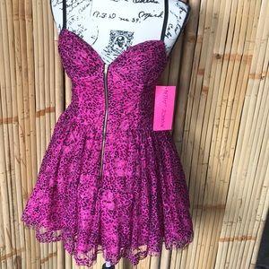 Pink leopard Betsey Johnson dress